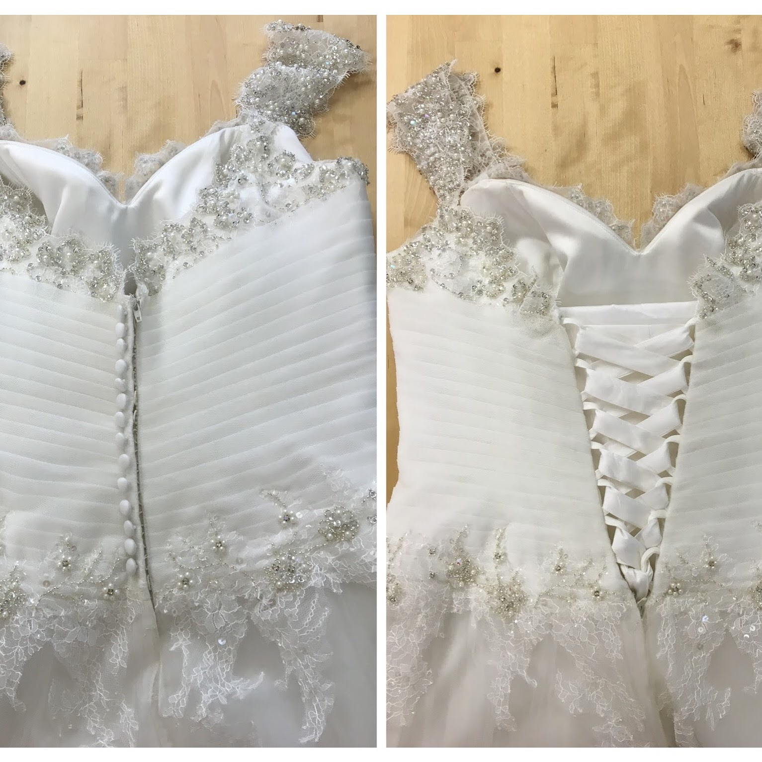 creating a corset back